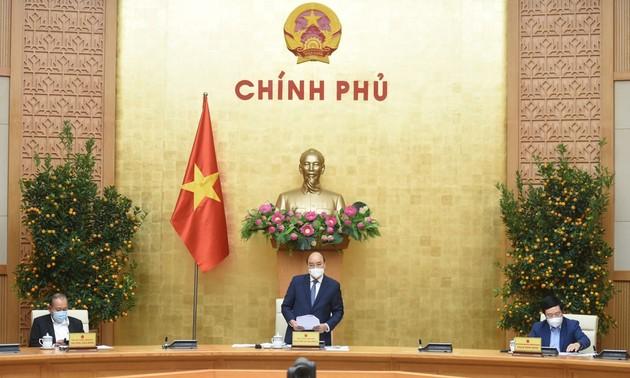 Thủ tướng họp thường trực chính phủ đầu năm mới