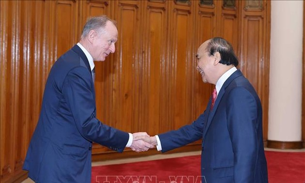 Thủ tướng Nguyễn Xuân Phúc tiếp Thư ký Hội đồng An ninh Liên bang Nga Nikolai Patrushev