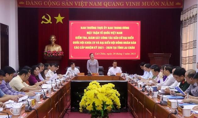 Ủy ban Trung ương Mặt trận Tổ quốc Việt Nam kiểm tra công tác bầu cử đại biểu Quốc hội ở tỉnh Lai Châu