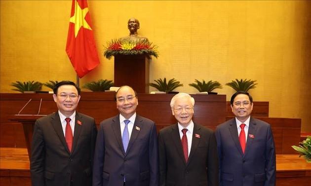 Lãnh đạo các nước gửi điện/thư chúc mừng lãnh đạo Đảng, Nhà nước, Chính phủ, Quốc hội