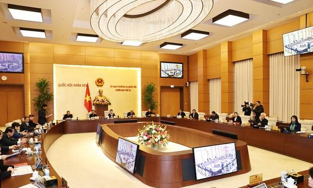 Phiên họp 55 của Ủy ban Thường vụ Quốc hội  cho ý kiến bước đầu về việc chuẩn bị kỳ họp thứ nhất, Quốc hội khóa 15