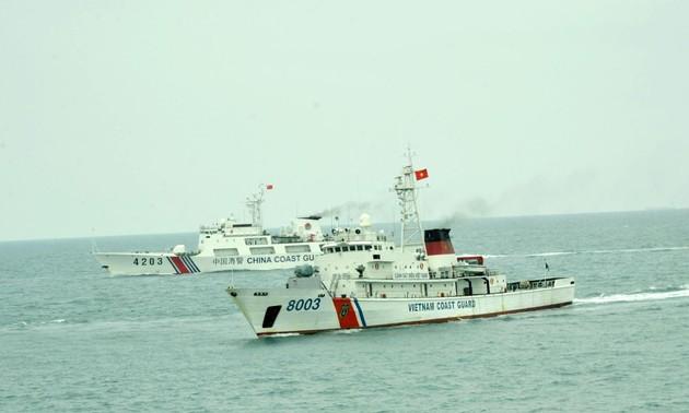 Việt Nam - Trung Quốc kết thúc chuyến tuần tra liên hợp trên vùng biển lân cận đường phân định Vịnh Bắc Bộ