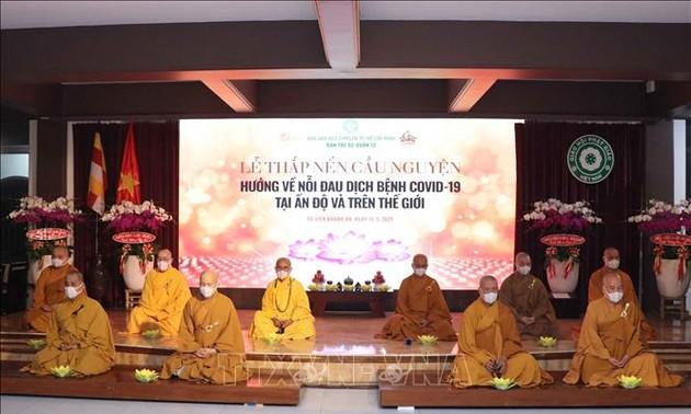 Tăng ni, phật tử thành phố Hồ Chí Minh ủng hộ 1 tỉ đồng, chia sẻ nỗi đau vì dịch COVID - 19 với Ấn Độ