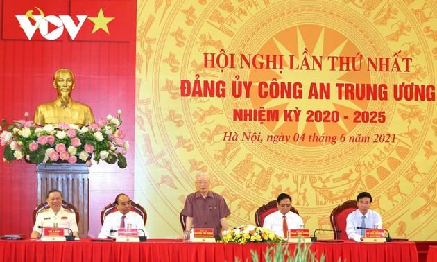 Đảng ủy Công an Trung ương phải coi việc giữ gìn an ninh chính trị, trật tự an toàn xã hội là nhiệm vụ trọng tâm