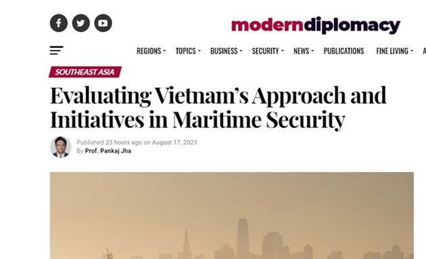 Học giả Ấn Độ đánh giá cao cách tiếp cận và sáng kiến của Việt Nam trong lĩnh vực an ninh hàng hải