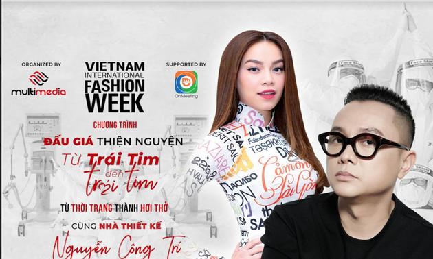 Áo dài 'Cám ơn Sài Gòn' của Nguyễn Công Trí bán đấu giá ủng hộ phòng chống COVID-19