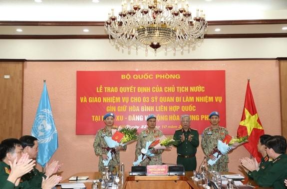 3 more Vietnamese soldiers participate in UN missions