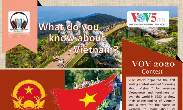 """Results of VOV's 2020 """"What do you know about Vietnam?"""" contest"""