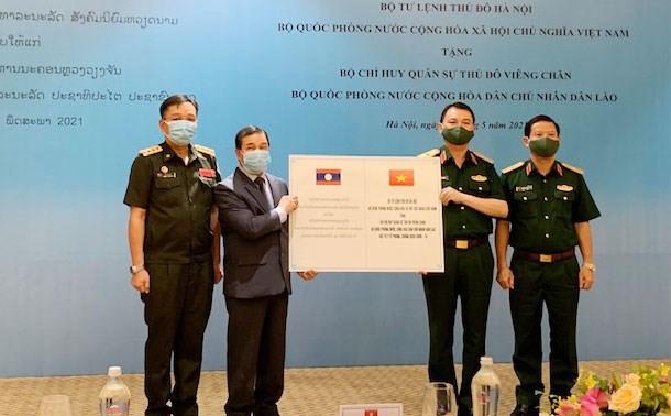 Hanoi Capital High Command aids Laos in COVID-19 fight