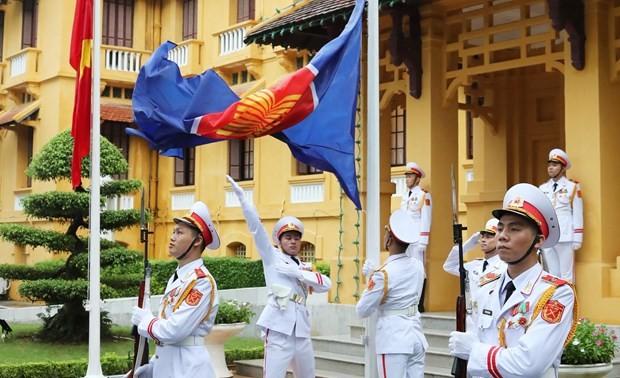 Flag raising ceremony marks ASEAN's 53rd anniversary