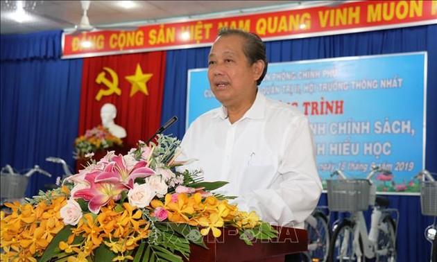 Continúa agenda de trabajo vicepremier vietnamita en Tay Ninh