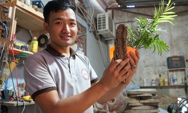 Luong Van Tuan y su proyecto de diseño con materiales reciclados