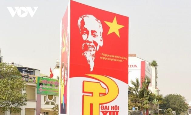 Dirigentes comunistas extranjeros felicitan al XIII Congreso del Partido de Vietnam