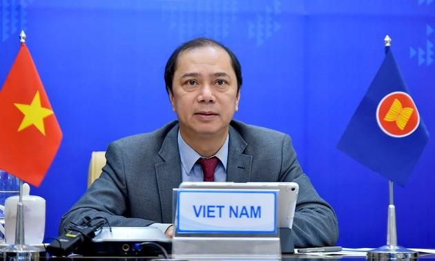 Vietnam participa en el 28º Foro virtual entre Asean y Nueva Zelanda