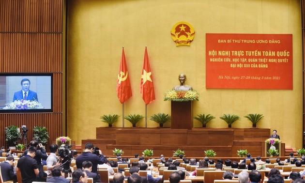 Clausuran teleconferencia nacional sobre la divulgación de Resolución del XIII Congreso del Partido de Vietnam