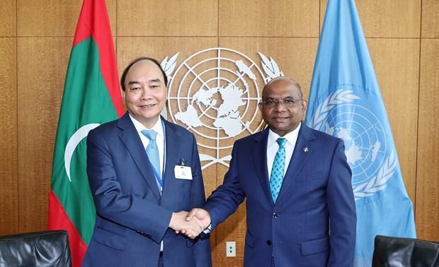 El presidente de Vietnam se reúne con dirigentes de la ONU