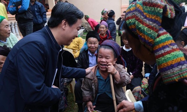 งานด้านสังคมสงเคราะห์เพื่อช่วยเหลือผู้ป่วยยากจน