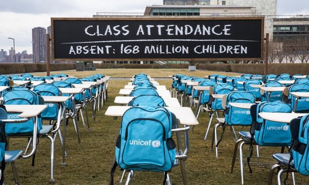 UN opens Pandemic Classroom exhibition to call for ending school closure