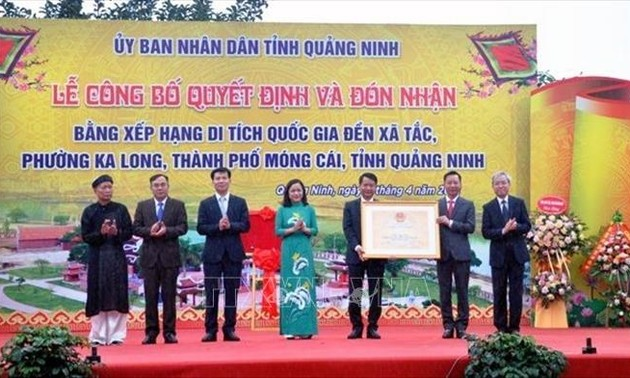 Xa Tac temple worshiping Land Genie recognized as national relic