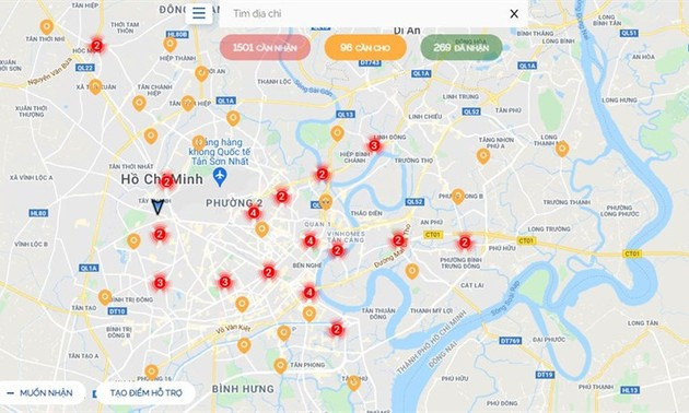 SOSmap.net connects donors and needy people