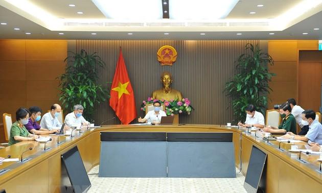 Sitzung des nationalen Verwaltungsstabs: Die Epidemie in Provinzen Bac Ninh und Bac Giang weiter bekämpfen