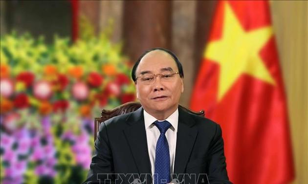 Staatspräsident Nguyen Xuan Phuc wünscht den Olympischen und Paralympischen Spielen Tokio 2020 viel Erfolg
