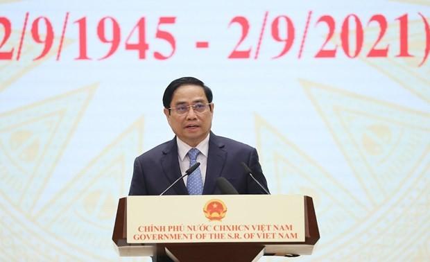 Premierminister Pham Minh Chinh nimmt am Gipfel für globalen Dienstleistungshandel teil