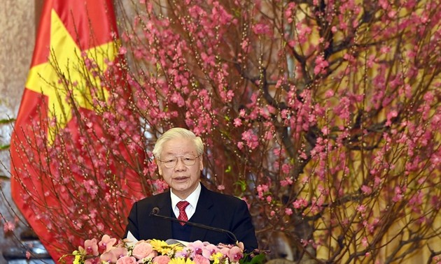 Party leader and President Nguyen Phu Trong's New Year Greeting