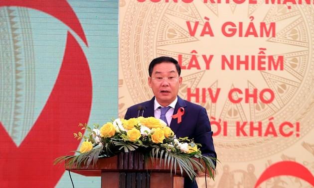 ฮานอยจัดงานชุมนุมขานรับวันเอดส์โลก2019