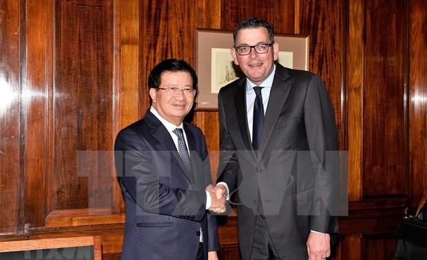 Vicepremier vietnamita se reúne con líderes de la Asociación Empresarial de Vietnam en Australia