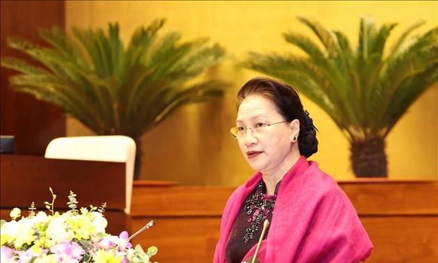 Presidenta del Parlamento dirige la conferencia de balance del Año presidencial de la AIPA y su Asamblea 41