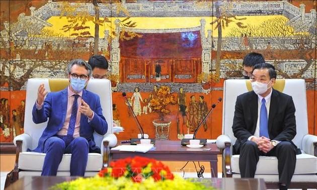 Promueven la colaboración Vietnam-UE en la construcción de una universidad europea en Hanói