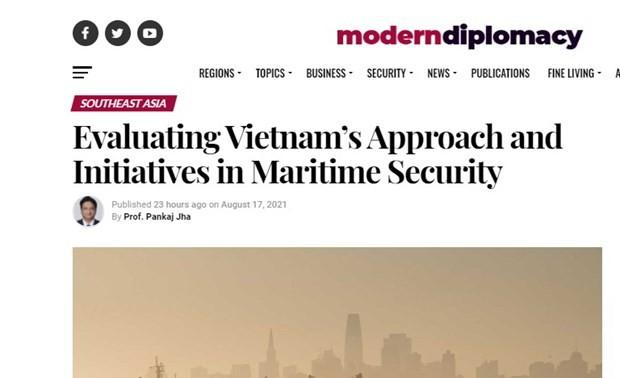 Académico indio elogia la iniciativa de Vietnam sobre la seguridad marítima