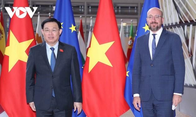 Presidente del Parlamento de Vietnam inicia su visita a Bélgica