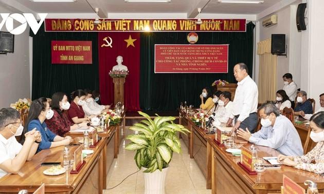 Vicepresidenta vietnamita entrega asistencia a localidades sureñas en su lucha contra el covid-19