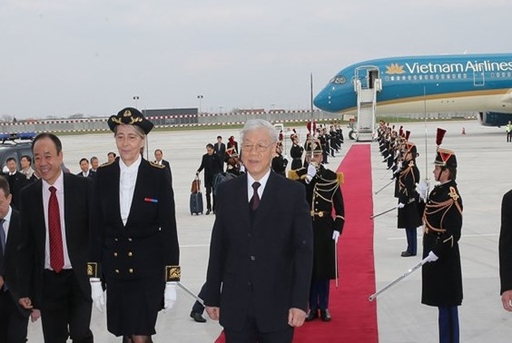 Nguyên Phu Trong salue les belles perspectives des relations franco-vietnamiennes
