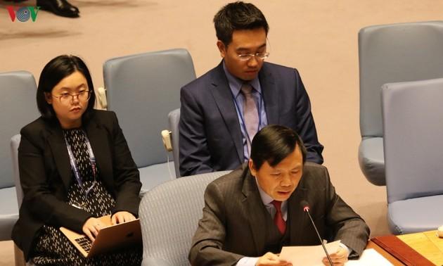 Conseil de sécurité: le Vietnam prône les voies pacifiques dans la résolution des conflits