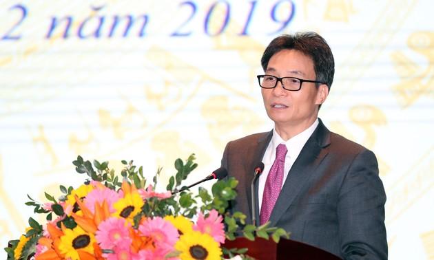 Vu Duc Dam à la conférence bilan du ministère de la Culture, des Sports et du Tourisme