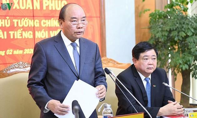 Nguyên Xuân Phuc: VOV doit se maintenir en première ligne