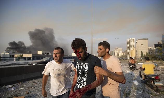 Liban: 78 morts après une double explosion dans un stock de nitrate d'ammonium à Beyrouth