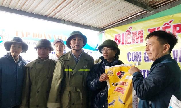 Intempéries: Phùng Duc Tiên inspecte les réparations des dommages à Quang Binh