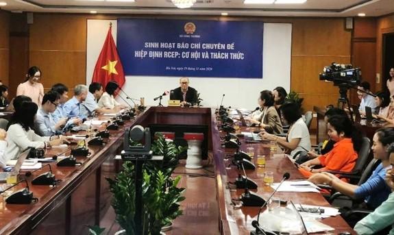RCEP: un plan d'action gouvernemental sera mis en place