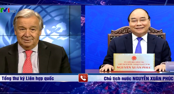 Nguyên Xuân Phuc félicite Antonio Guterres