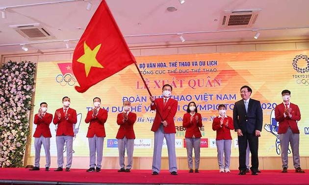 Les sportifs vietnamiens prêts à partir pour les JO de Tokyo 2020
