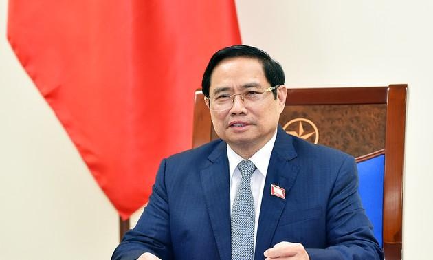 Vietnam - République de Corée: Entretien entre Pham Minh Chinh et Kim Boo-kyum