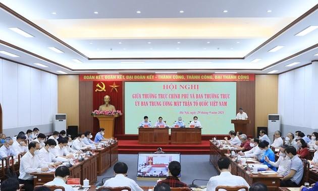 Bilan de la coopération entre le gouvernement et le Front de la Patrie du Vietnam, période 2016-2020