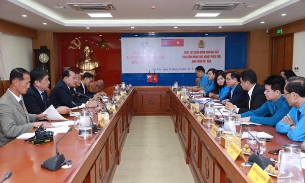 Tăng cường hợp tác giữa tổ chức Công đoàn Việt Nam - Triều Tiên