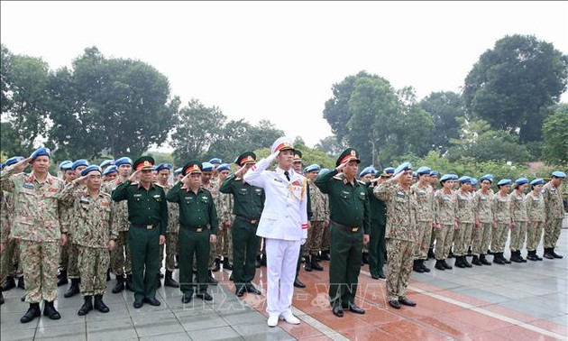 Sĩ quan mũ nồi xanh quyết tâm hoàn thành tốt nhiệm vụ quốc tế tại Sudan