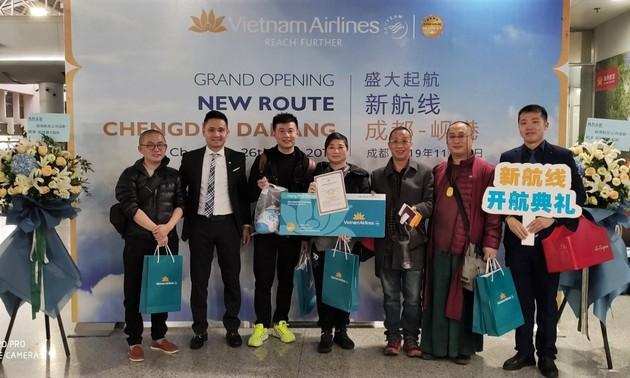 Vietnam Airlines khai thác đường bay giữa Đà Nẵng và Thành Đô (Trung Quốc)