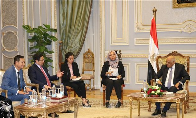 Trưởng Ban Tổ chức Trung ương Phạm Minh Chính thăm làm việc tại Ai Cập